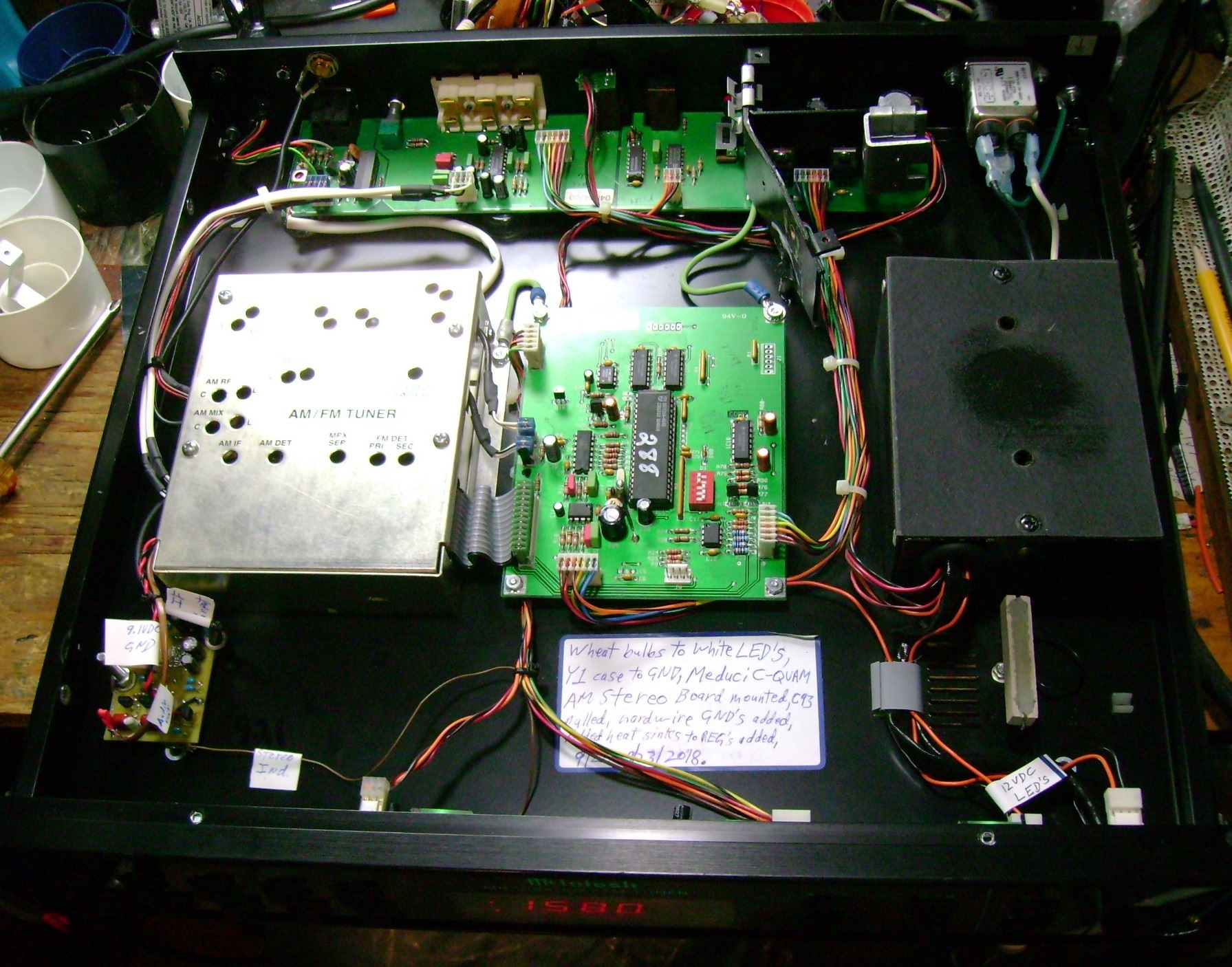 Am Stereo Renaissance Voice Transmitter Via Medium Wave Band Mcintosh Interior View